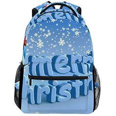 Merry Christmas In Winter Snow School Backpacks For Girls Kids Elementary School  Shoulder Bag Bookbag     For more information, visit image link. b90862a64c