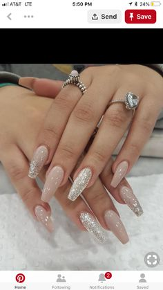 50 Fabulous Coffin Nail Designs For Women - - Acrylic Nails Cute Acrylic Nails, Acrylic Nail Designs, Glitter Nails, Glitter Art, Acrylic Nails For Summer Coffin, Colored Acrylic Nails, Fabulous Nails, Gorgeous Nails, Pretty Nails