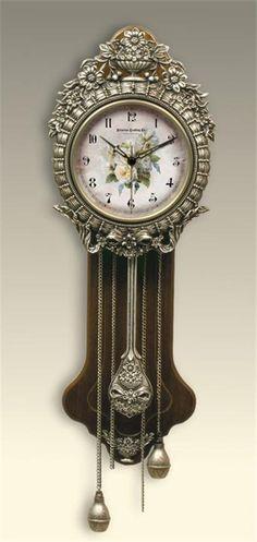 Amazing Provencal Primrose Pendulum Wall Clock