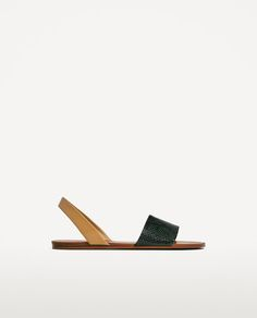 Image 2 of TWO-TONE EMBOSSED SLIDES from Zara