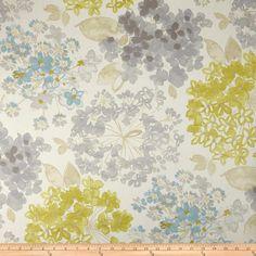P Kaufmann Flower Bed Twill Kiwi