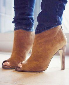Tan Stiletto Ankle Booties ♥
