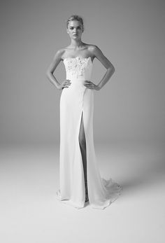 A Dan Jones wedding dress features an unbridaled fusion of clean lines, minimal, shape defining silhouettes and exquisite craftsmanship for the modern bride. Wedding Dress Trends, Wedding Gowns, Wedding Bells, Chic Wedding, Types Of Gowns, Bridal Skirts, Bride Gowns, Gowns With Sleeves, Bridal Fashion Week