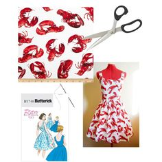 """""""Lobster Dress to Sew"""" by marianne18241 on Polyvore"""
