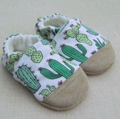 Snow Arrow Cacti Organic Cotton Slippers