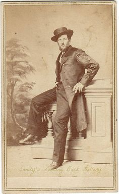 Sewell's Art Gallery - Sonora, California cdv of man 9-14-1865