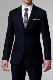 Hard to beat a classic navy suit.