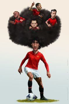 This is just too funny! Soccer Art, Football Soccer, Caricatures, Funny Football Memes, Bobby Charlton, Manchester United Players, English Premier League, Man United, Sports Art