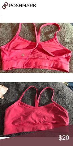 LuluLemon Sports bra FLow Y bra in excellent condition lululemon athletica Intimates & Sleepwear Bras
