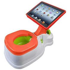 When is too soon to start potty training your child? When is too soon to get your child an iPad? I'm not sure, but you can combine both and kill two birds with one stone with this iPotty with Activity Seat for iPad. Potty Training Humor, Potty Training Seats, Potty Seat, Toilet Training, Potty Chair, Training Tips, Accessoires Ipad, Pots, Baby Gadgets