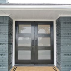 Modern Double Front Doors henderson project exterior shots - contemporary - entry - dallas