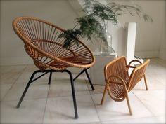 Vintage rotan meubels Rotan stoel Rohe stoel