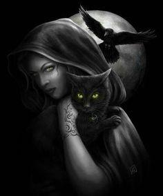 Dark Witch with Familiars
