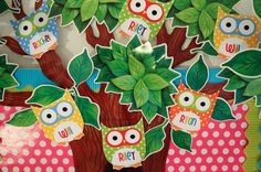 camping theme classroom decorations | owl themed classroom by kellie