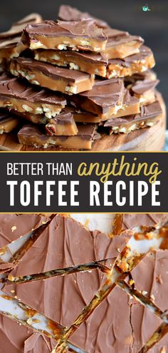Sweets Recipes, Candy Recipes, Baking Recipes, Cookie Recipes, Soap Recipes, Yummy Treats, Sweet Treats, Yummy Food, The Best Toffee Recipe