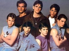 The Outsiders (by S. Hinton) Yup - that's a very young Tom Cruise, Rob Lowe, Ralph Macchio and Emilio Estevez The Outsiders Preferences, The Outsiders Imagines, The Outsiders 1983, The Outsiders Quiz, Dallas Winston, Party Hard, Emilio Estevez, Karate Kid, Ralph Macchio