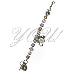 Swarovski Crystal Bracelet, White and Tan Tones at YOU! Boutiques #swarovski #mariana #youboutiques