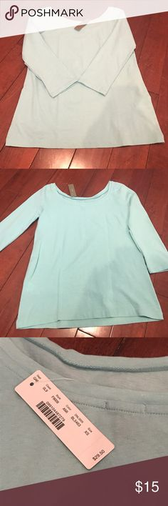 Elbow Sleeve J.Crew Tee NWT! This is from J.Crew, not their factory store. Never worn, NWT elbow sleeve tee. Scoop neck back.. perfect for Spring! J. Crew Tops