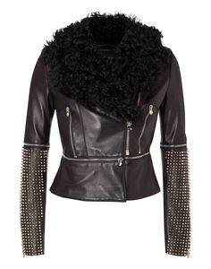 "leather jacket ""archetyp"" - Jackets - Clothing - Women 