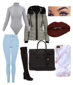 """""""Untitled #177"""" by justmekissy on Polyvore featuring GUESS, BasicGrey, Topshop, Tommy Hilfiger and Yves Saint Laurent"""