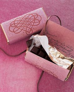 Valentines Day - rewrap chocolates with a handwritten love letter