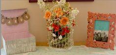Love Birds wedding theme with a boho shabby chic gift table vibe. Decor by Imprint Affair.