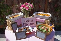 Grub Station...how cute!