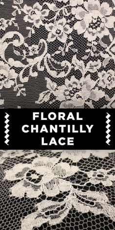 Floral Chantilly Lace in White