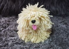 Pom Pom Animals, Pipe Cleaners, Yarn Crafts, Teddy Bear, Craft Ideas, Crafty, Cool Stuff, Dogs, Desserts