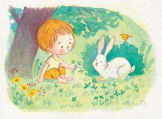 Some watercolor children's illustrations