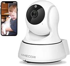 AMICCOM home security camera comes with 355° Pan /110° Tilt rotation lens and 110° wide angle give you 360 ° livestream video to monitor your pet on your phone , pads and PC after the baby camera connected the WI-FI successfully.Only works with 2.4G WI-FI(5G is not supported). WIFI Camera equipped with noise filter technology create a perfect two-way conversation. Even when you are outside, Also can easily Speak to your pets and talk with your love. Best Security Cameras, Wireless Security Cameras, Wireless Camera, Video Capture, Ip Camera, Wide Angle, Night Vision, Sd Card, Baby Animals