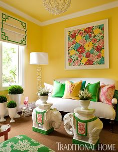 15 Rooms with Big, Bold Color   Traditional Home