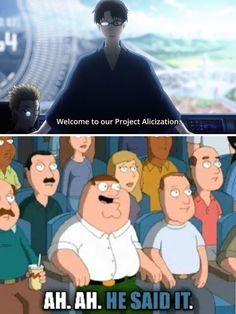 Sword Art Online, Online Art, Sao Fanart, Family Guy, Fan Art, Guys, Funny, Quotes, Anime
