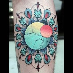 Tattoo - Geometric - Abstract - Flower - Color - Arm