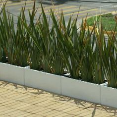 Jardineras macetas minimalistas de fibra de vidrio meue habitat vivo fachadas y terrazas - Jardineras de fibra de vidrio ...