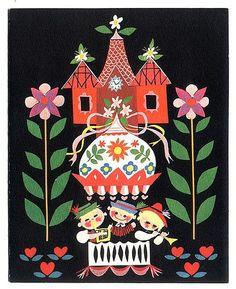 vintage folk print Illustration by Mary Blair Mary Blair, Art Disney, Disney Artists, Sgraffito, Illustrations Vintage, Illustrations Posters, Illustration Noel, Disney Illustration, Digital Illustration