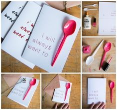 **Awesome ideas!** 40 Unconventional Valentines Day Cards: I Will Always Want to Spoon Card