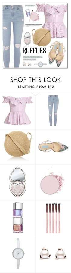 """""""Untitled #163"""" by afony ❤ liked on Polyvore featuring Caroline Constas, River Island, Samuji, Betsey Johnson, Too Faced Cosmetics and DKNY"""