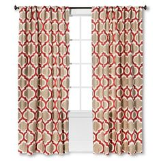 Threshold Linen-Look Fretwork Curtain Panel - Coral Starfish #target $24.99-$29.99