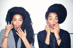 They might be identical, but their beauty routines are anything but. http://www.thecoveteur.com/urban-bush-babes-tk-quann-cipriana-quann/
