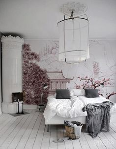 40 Best Bedroom Interior Design You Will Love to Makeover Your Home! Awesome Design Ideas for Your Bedroom. Try this beautifulgreat design ideas. Dream Bedroom, Home Bedroom, Bedroom Rustic, Master Bedrooms, Swedish Bedroom, Scandinavian Bedroom, Bedroom Wall, Bedroom Corner, Scandinavian Fireplace