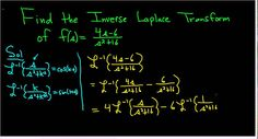 Find the Inverse Laplace Transform of (4s - 6)/(s^2 + 16)