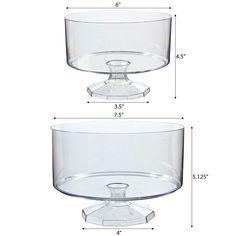 2 plastic trifle containers -- $13.99 #wedding #serveware #tablescape #reception #dessertbar #burgerbar