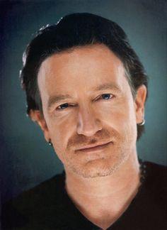 U2's Bono, rarely seen w/o shades