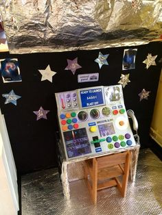 Space resources - Twinkl Such a fun little area for the kids to play in for dramatic play! Dramatic Play Area, Dramatic Play Centers, Preschool Dramatic Play, Camping Dramatic Play, Space Projects, Space Crafts, Space Preschool, Space Activities For Kids, Space Classroom