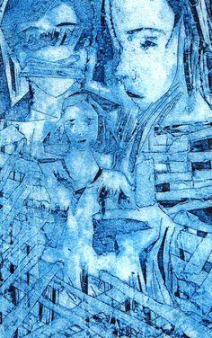 Collograph print, 2010. Aimeehutchinson.com