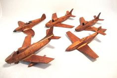 Handcrafted Vintage WWII Airplane Models Lot by FattyCattyVintage