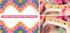 How to Crochet Pretty Slippers – Step By Step - Design Peak Easy Crochet Hat, Crochet Ripple, Crochet Bunny, Learn To Crochet, Crochet Stitches, Beginner Crochet, Crochet Basics, Knit Crochet, Hat Tutorial
