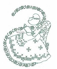 Book Reading Quilt Patterns Free, Hand Embroidery Patterns, Vintage Embroidery, Embroidery Designs, Free Pattern, Sewing Tips, Sewing Hacks, Umbrella Girl, Feminine Mystique
