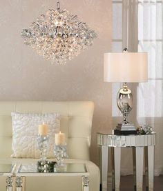 Essa 22-inch Modern and Elegant Crystal Chandelier Lighting